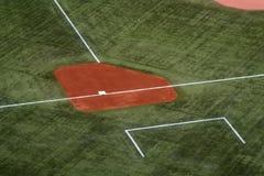 Third Base. On a baseball field royalty free stock photo