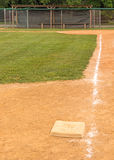 Third base and chalk base path to home plate Stock Images
