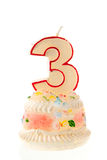 Third birthday Royalty Free Stock Images