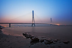 The third bridge on Yangtze Rive in Nanjing Royalty Free Stock Photos