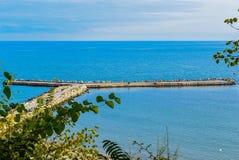 Autumn seascape. Third bulge on the Varna coast royalty free stock images