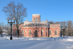Third Cavalier`s Building in Tsaritsyno, Moscow Royalty Free Stock Photos