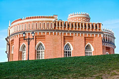 Third Cavalry building, Tsaritsyno park, Moscow. Royalty Free Stock Photography