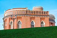 Third Cavalry Corps, Tsaritsyno. Moscow, Russia. Third Cavalry Corps - dubbed one-story pavilion with a tower, one of the first buildings of architectural royalty free stock image