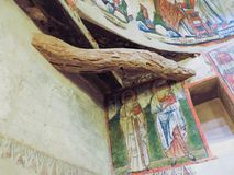 Third century AD ancient christian painting. At St. Mary monastery  Syrian  wady El Natron at Egypt Stock Photography