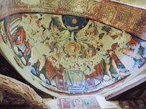 Third century AD ancient christian painting. At St. Mary monastery  Syrian  wady El Natron at Egypt Royalty Free Stock Photos