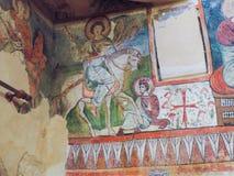 Third century AD ancient christian painting. At St. Mary monastery  Syrian  wady El Natron at Egypt Stock Photos