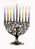 Third day of Chanukah. XXL. Chanukah Menorah. Third day of Chanukah. XXL Stock Photography