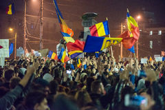 Third day of protest against coruption and Romanian Government Stock Photography