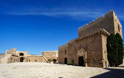 Third Enclosure in Almeria, Spain's fortified castle. Alcazaba - Third Compound - Christian Castle, Almería, Spain royalty free stock images