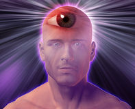 Third eye Man Royalty Free Stock Photo