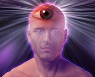 Third eye Man. Man with third eye, psychic supernatural senses Royalty Free Stock Photo