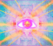 Third eye mystical sign Royalty Free Stock Images