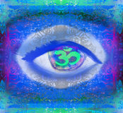 Third eye mystical sign. Illustration of a third eye mystical sign vector illustration