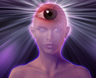 Third eye woman Royalty Free Stock Images