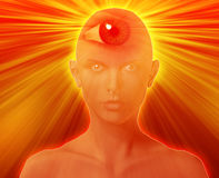 Third eye woman Royalty Free Stock Image