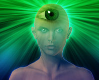 Third eye woman Stock Image