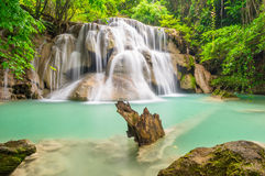 Third floor of Huay Mae Kamin waterfall, The cliff. Thailand Stock Photography