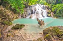 Third floor of Huay Mae Kamin waterfall. Kanchanaburi Thailand Royalty Free Stock Photos