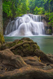 Third floor of Huay Mae Kamin waterfall. Thailand Stock Images