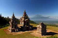 The Third, Fourth and Fifth Temple of Gedongsongo Royalty Free Stock Image