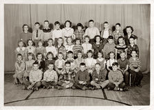 Third Grade Students, c. 1955 Stock Photography