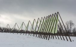 Third Iteration - Stone Quarry Hill Art Park - Cazenovia, NY Stock Images