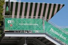 Third largest brewer in the world Heineken International opens Heineken Beer House at Billie Jean King Tennis Center Royalty Free Stock Image