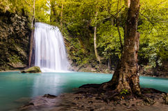 The third level of Erawan Fall. Thailand Stock Images