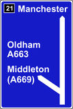 The third motorway sign Royalty Free Stock Images