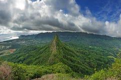 Third Olomana Peak. Or Ahiki from the second peak royalty free stock photos
