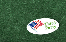 Third Party sticker Royalty Free Stock Photos