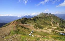 Third peak Aigbi in the Caucasus Mountains. Krasnaya Polyana Stock Photos