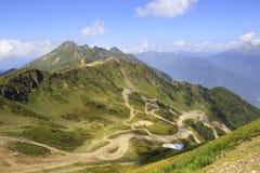 Third peak Aigbi in the Caucasus Mountains. Krasnaya Polyana Royalty Free Stock Images