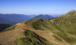 Third peak Aigbi in the Caucasus Mountains. Royalty Free Stock Image