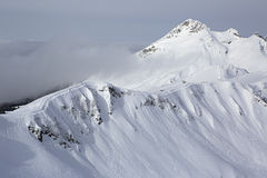 Third peak Aigbi in the Caucasus Mountains Royalty Free Stock Photography