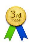 Third place award ribbon badge Royalty Free Stock Photography