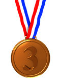 Third place medal Stock Photos