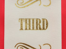Third place ribbon Royalty Free Stock Images