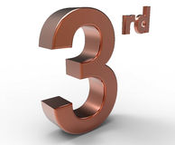 Third place symbol Royalty Free Stock Photos
