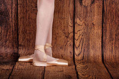 The third position in classical ballet. Ballet pas. Royalty Free Stock Photo