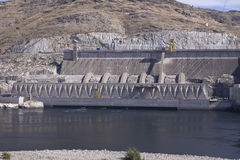 Third powerplant added in 1985, Grand Coulee Dam hydroelectric s Stock Photography