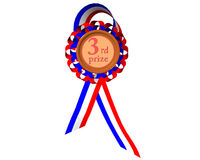 Third prize medal Royalty Free Stock Photo