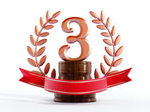 Third prize trophy Royalty Free Stock Photography