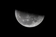 Third quarter moon. Stock Photo