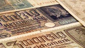 Third reich nazi banknotes 1942 WW2 in occupied Ukraine Royalty Free Stock Photo