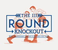 Third round. Boxing concept Royalty Free Stock Photography