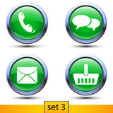 Third set of four realistic icons Royalty Free Stock Photo