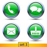 Third set of four realistic icons Royalty Free Stock Photo