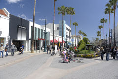 Third Street Promenade in Santa Monica California Stock Image